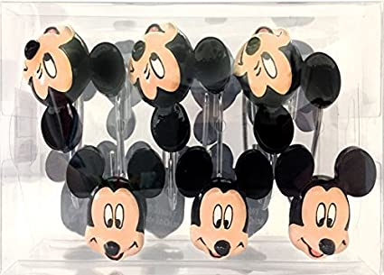 Image Unavailable Not Available For Color Franco Mickey Mouse Shower Curtain Hooks
