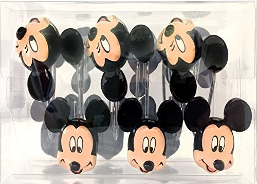 Franco Mickey Mouse Shower Curtain Hooks by Franco