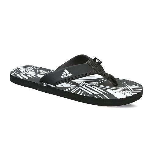 41dd5341618c Adidas Men s Inert Black and White Flip-Flops and House Slippers - 10 UK