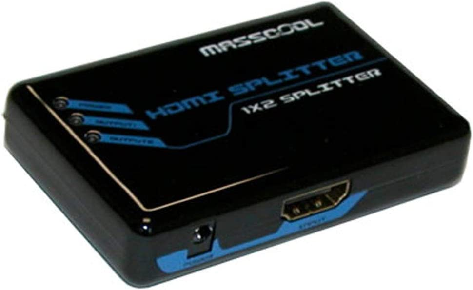 1 in 2 Out MASSCOOL AHS-102 HDMI Splitter 1x2