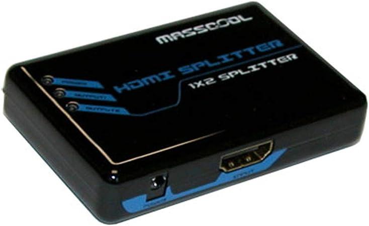1 in 2 Out MASSCOOL AHS-102 HDMI Splitter 1x2