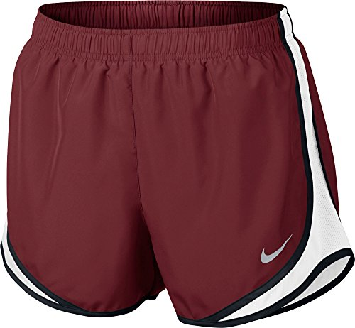 Nike Womens Vochtafvoerende Colorblock Shorts Team Rood / Wh / Blk / Wolf Grijs
