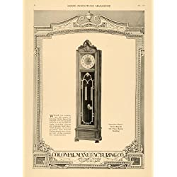 1918 Ad Colonial Manufacturer Grandfather Clock Zeeland - Original Print Ad