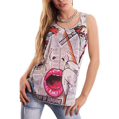 Toocool - Camiseta sin mangas - para mujer fantasia 2