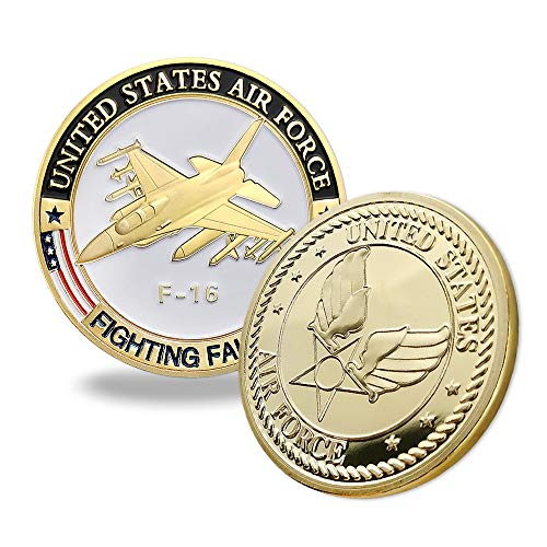 F-16 Falcon Game - Indeep US Fighting Falcon F-16 Challenge Coin Air Force Military Coin Collectible Airman Souvenir