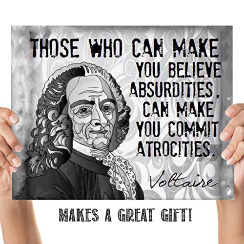 Voltaires Philosophical Dictionary - Voltaire Quotes Wall Art-
