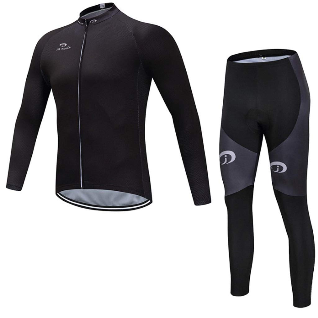 Lilongjiao Radsportbekleidung Set atmungsaktiv langärmelige Fahrrad Jersey für professionelle Radfahren Team Kleidung