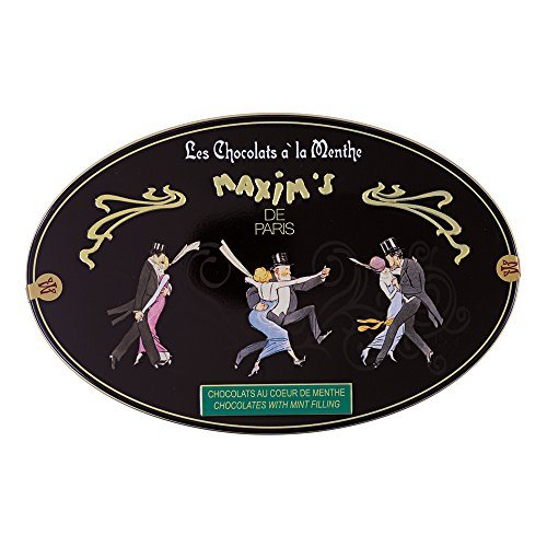 Maxim's Paris – Mint Candies Coated with Dark Chocolate, Gift Tin (175g) ()