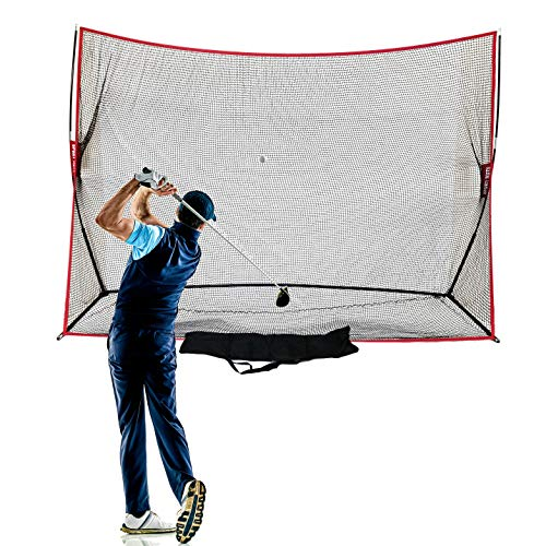 Sport Nets Heavy Duty Golf Net 10 X 7 - Perfect Golf Practice Net  For Indoor Outdoor Garage Backyard Golf Practice.  Golf Hitting Net Is A Portable Home Driving Range. Comes W/ Carry Bag