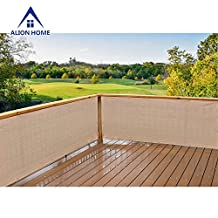 Alion Home Elegant Privacy Screen For Backyard Deck, Patio, Balcony, Fence, Porch. (35''x16') Banha Beige