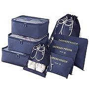 Vicloon Gepäck Organizer, 8-in-1-Set Koffer Organizer umfassen 2 * Schuhbeutel, 3 * Packwürfel und 3…