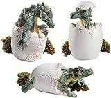 Desktop Dragon Eggs Hatchlings Home Garden Sculpture