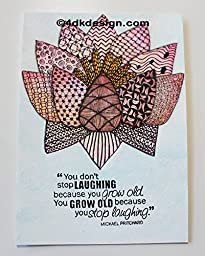 ''Growing Old Quote'' - Cardstock 5'' x 7''