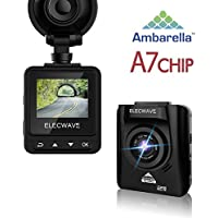 Elecwave EW-D200 170 Wide Angle Car DVR Camera Video Recorder with G-Sensor Night Vision Motion Detection (Black)