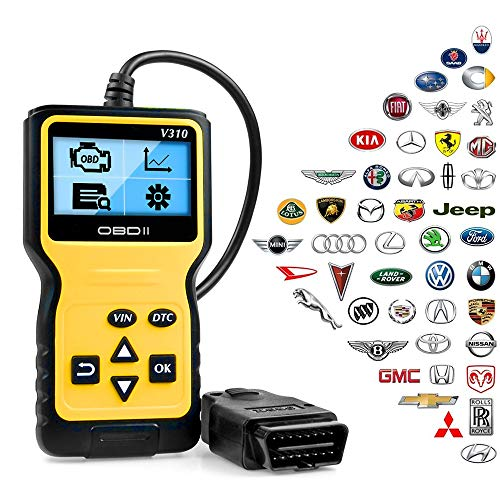 ATDIAG OBD2 Scanner, Car Code Reader Enhanced Universal Car Engine Fault Code Reader, OBD Scanner CAN Diagnostic Scan Tool for All OBD II Protocol Cars Since 1996