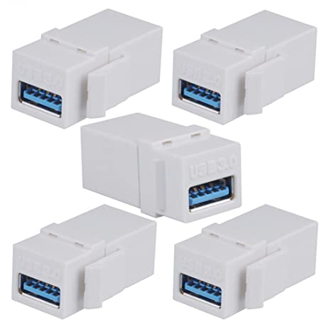 5Pack USB 3.0 Type-A Female to Female Plug Adapter Coupler Changer Connector