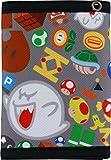 Bioworld Super Mario Tri-fold Wallet (Grey Multicolored)