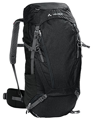 VAUDE Asymmetric  52+8L Touring Backpack for Multi-day Hikes and Trekking   Black from VAUDE