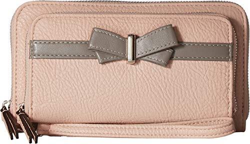 Jessica Simpson Women's Linea Double Zip Wallet Powder Blush One Size