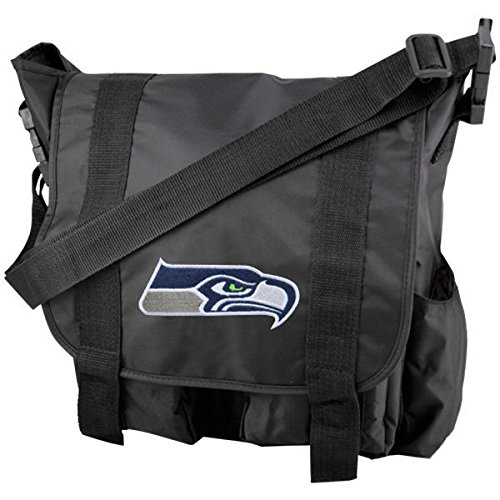 (Concept One NFL Seattle Seahawks Team Logo Diaper Bag with Changing Pad)