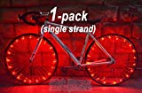 "LED ""BikeStrings"" (Red) - Flexible bright MicroLED bicycle light strings - Dazzling display - Light up your bike! Cast light all around you. Be safe. Be visible. Be seen."