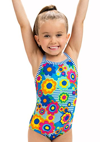 Dolfin Little Girl's Uglies One Piece Swimsuit (Flower Power, 5)