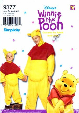 (Simplicity 9377 Sewing Pattern Crafts Winnie The Pooh)
