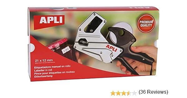 APLI 101948- Máquina etiquetadora de precios, aluminio: Amazon.es: Oficina y papelería