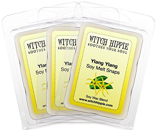 Witch Hippie Ylang Ylang Scented Wickless Candle Tarts 3 Pack,18 Natural Soy Wax Cubes, A Scent Of Ylang Flower, Jasmine & Asian Floral Notes Blend