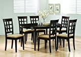 Oval Dining Room Wood Table Chair Set Wheat Back Chairs