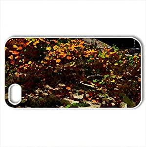 Mill Creek Waterfall - Case Cover for iPhone 4 and 4s (Waterfalls Series, Watercolor style, White) by lolosakes