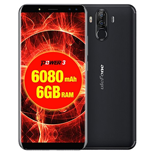 Ulefone Power 3 6GB+64GB 6080mah Big Battery 6.0 inch Android 7.1 MTK6763 Octa-core up to 2.0GHz GSM & WCDMA & FDD-LTE (Black)