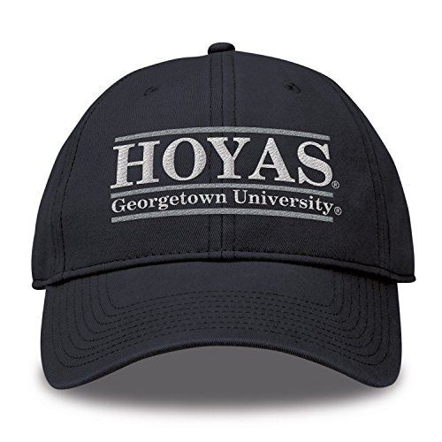 (The Game NCAA Georgetown Hoyas Bar Design Twill Hat, Navy, Adjustable)