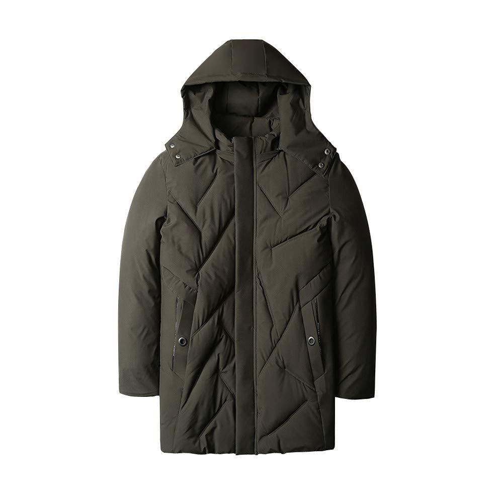 Men Winter Coat Sale Fashion Pocket Zipper Hoodie Thermal Plus Velvet Down Coat