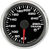 Speedhut GR26-TT04 Trans Temp Gauge 60-260F (With Warning LED), 2-5/8''