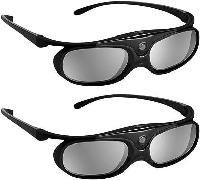 BOBLOV 3D Gafas Activas de Obturador, 96-144Hz 3D Gafas DLP ...