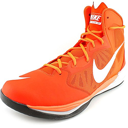 Nike Mens Prime Hype Df Basketbalschoen Team Oranje / Hyper Crimson / Wolf Grijs / Wit