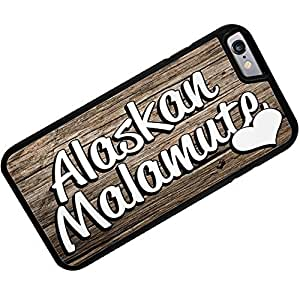 Rubber Case for iphone 6 Alaskan Malamute, Dog Breed United States - Neonblond