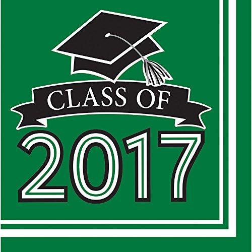 Class of 2017 Congrats Grad Green Luncheon Napkins (36 ct)