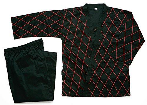 Martial-Arts-Hapkido-High-Quality-Black-wRed-Stitch-Uniforms