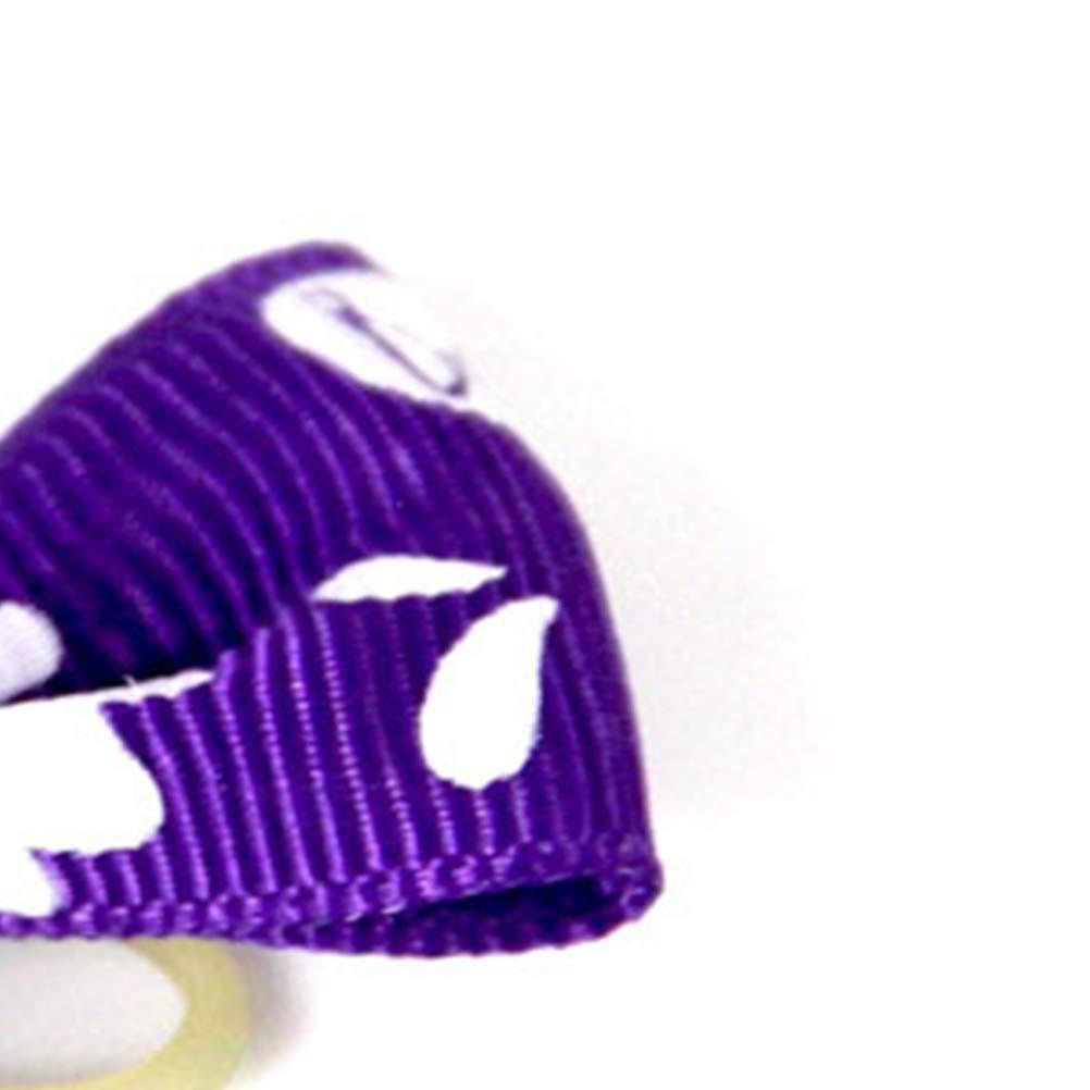 Balacoo Confezione da 24 Pezzi peli di Cane di Halloween Si Piega con Elastico peli di Cucciolo Fiocchi di Animali Decorazione per Animali Accessori per Capelli
