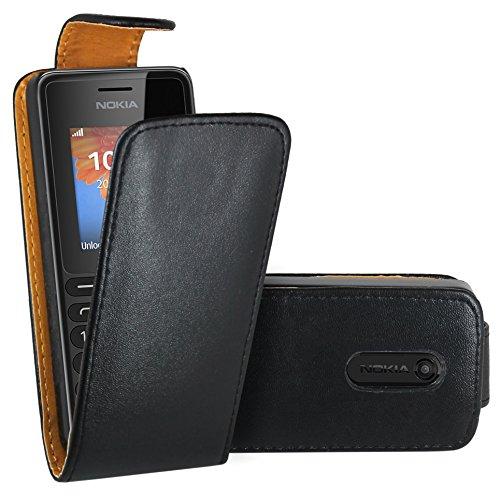 Nokia 108 Hülle, FoneExpert® Hülle Case Cover Hüllen Etui Ledertasche Premium Lederhülle Schutzhülle für Nokia 108