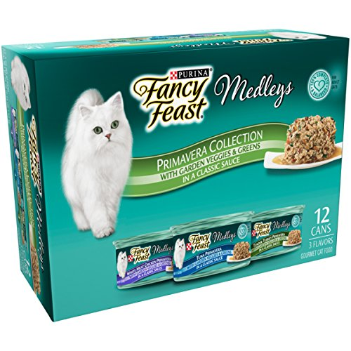 Purina Fancy Feast Medleys Primavera Collection Gourmet Wet Cat Food Variety Pack – (12) 3 oz. Cans