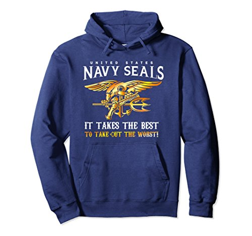 Seal Hoody Sweatshirt - Unisex Navy Seal Hoodie For Men, Women and Kids Small Navy