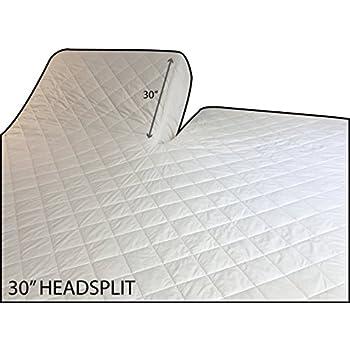Amazon Com Pure Collection Mattress Pad Split Cal King