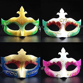 Pintar Halloween princesa niña mitad mascarada Máscara cara máscara de Venecia (colores aleatorios)