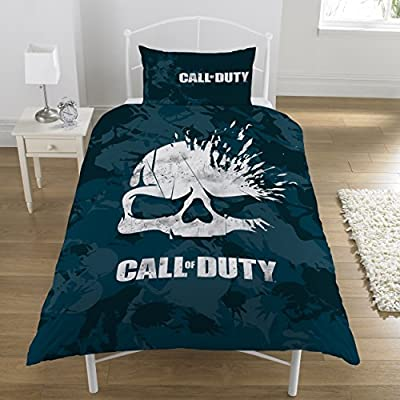 Call of Duty Broken Skull Camo Reversible UK Single / US Twin Duvet Cover with Matching Pillow Case Bedding Set: Home & Kitchen