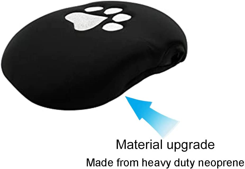 Bonbo Center Console Armrest Pad Cover Black Dog Paw Protector Cushion for Ford Mustang 2015 2016 2017 2018 2019 2020