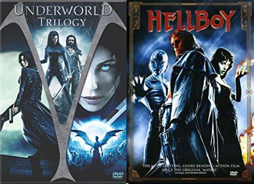 Hellboy Movie & Underworld Trilogy DVD - movie Set - (Underworld / Underworld: Evolution / Underworld: Rise of the Lycans)