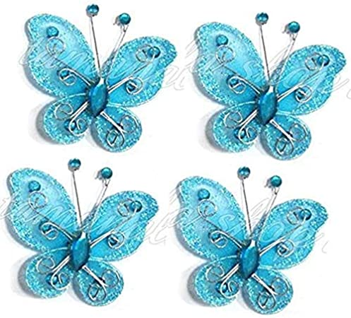 Blue Green Leaves Butterflies /& Flowers on Off-White Fabric 2-14 yd x 45 Cotton Blend Soft Light Beautiful Colors Pink